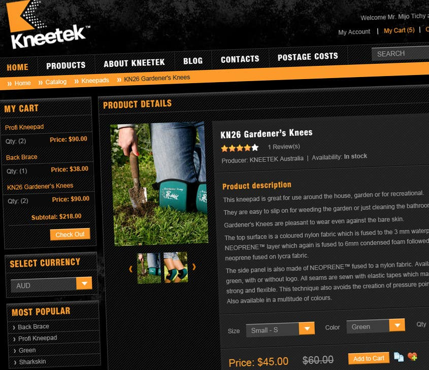 Tävlingsbidrag #65 för Website Design for KNEETEK.NET