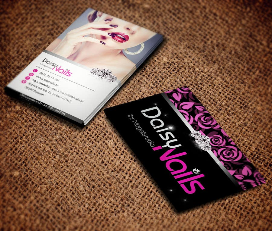 #30 for Design some Business Cards for Nails Studio by RERTHUSI