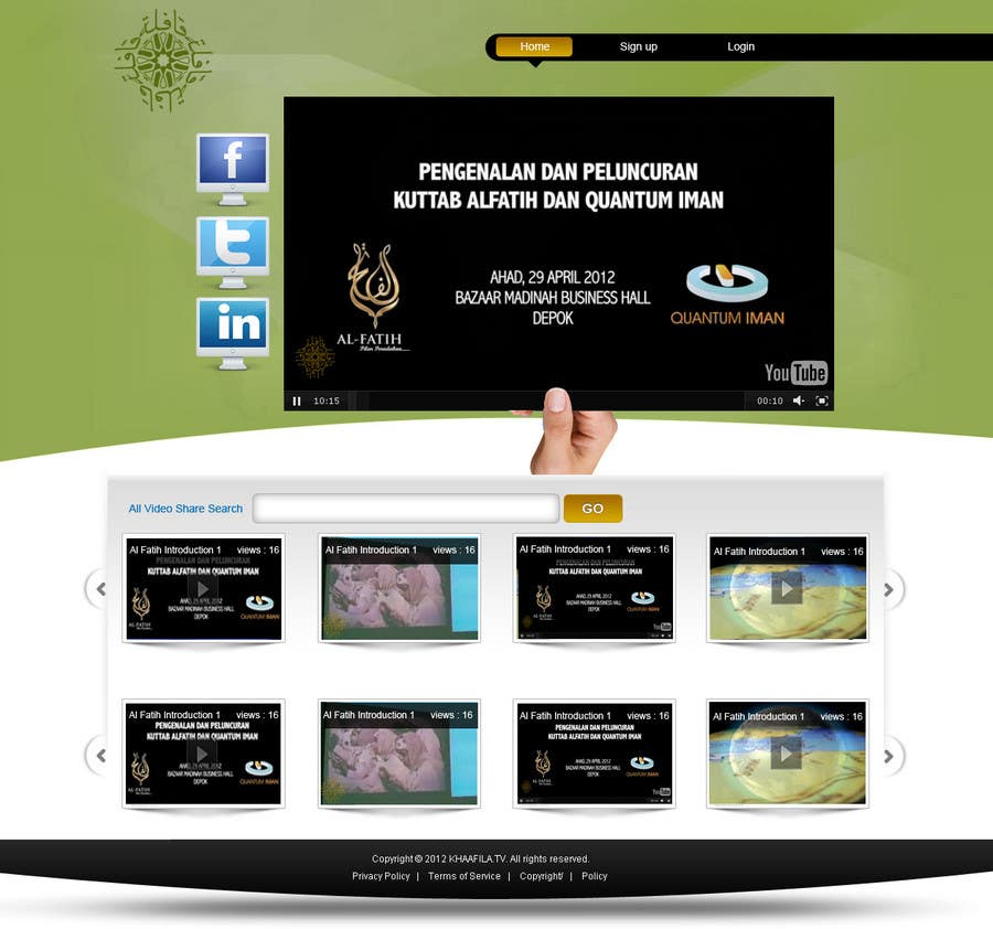 #34 for Website Design for KHAAFILA.TV  and HIJRAH.TV online televisions by alimoon138