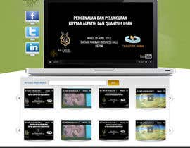 nº 35 pour Website Design for KHAAFILA.TV  and HIJRAH.TV online televisions par alimoon138