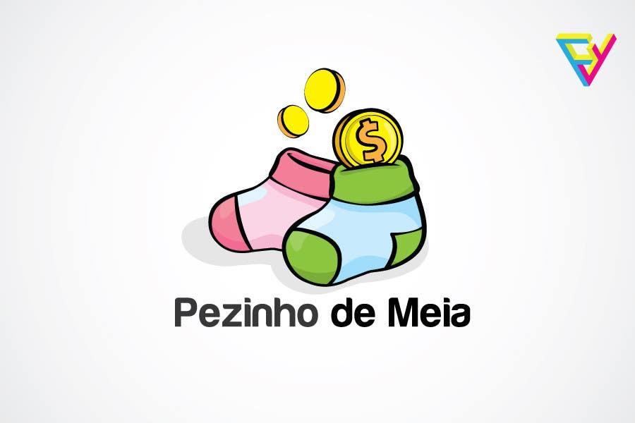 Entri Kontes #107 untukLogo Design for Pezinho de Meia (Baby Socks in portuguese)