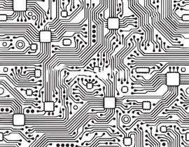 """Nro 18 kilpailuun Design an """"electronic schematic"""" styled pattern käyttäjältä wildcatbt"""