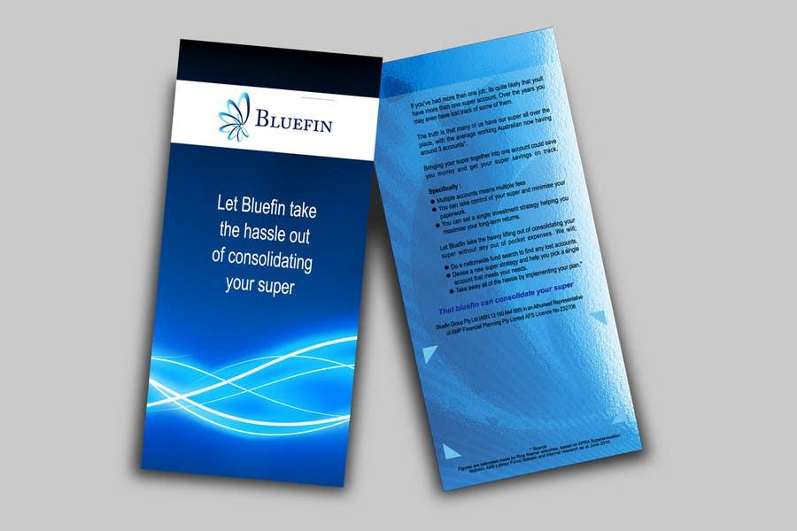 Конкурсная заявка №17 для Flyer Design for Bluefin