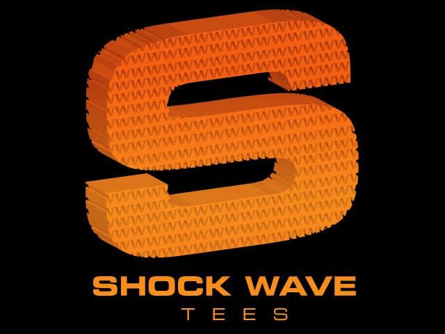 Penyertaan Peraduan #157 untuk Logo Design for T-Shirt Company.  ShockWave Tees