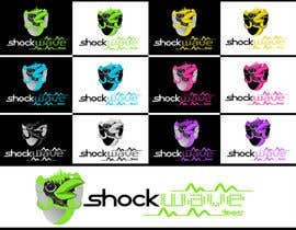 nº 161 pour Logo Design for T-Shirt Company.  ShockWave Tees par xcerlow