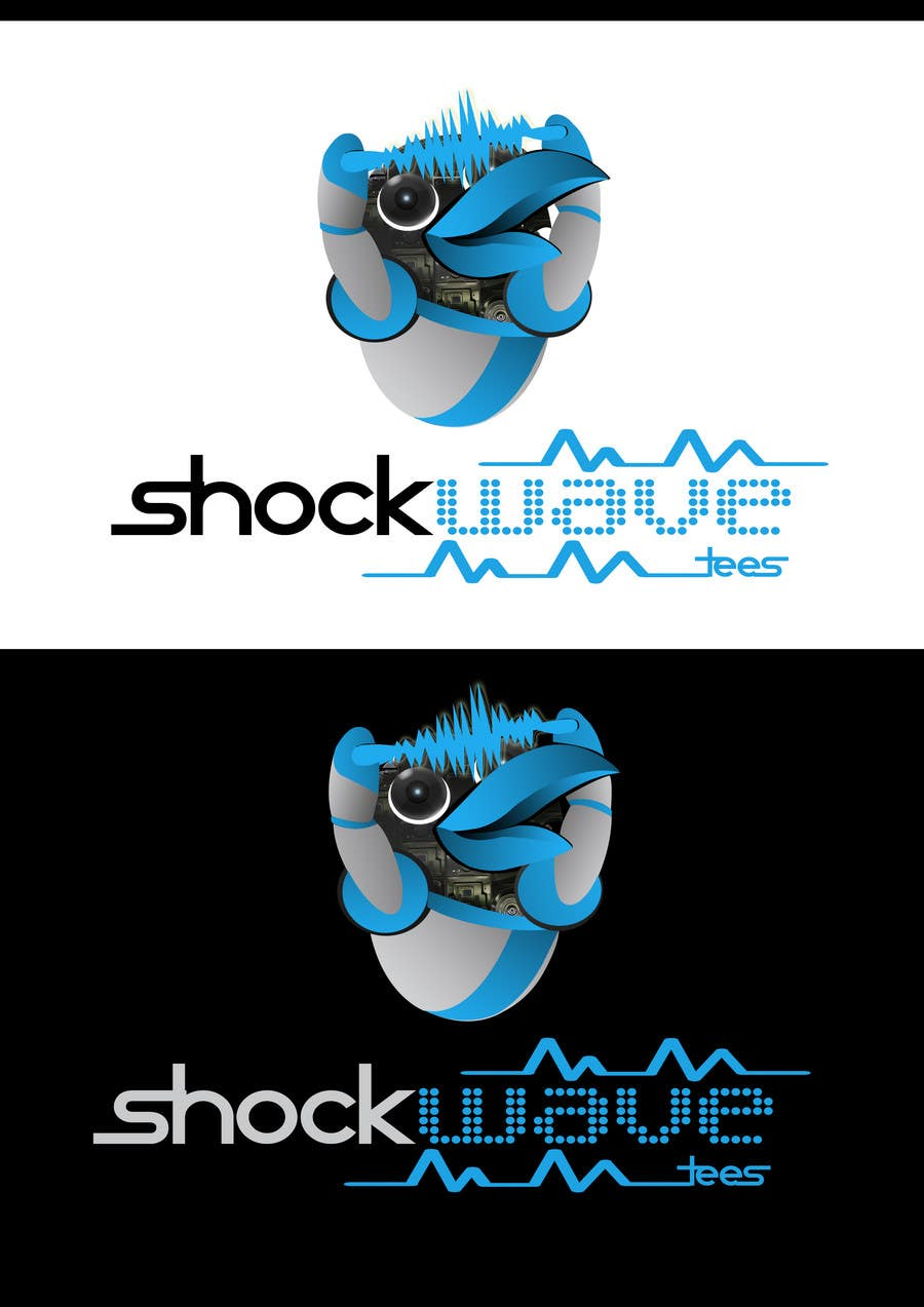 Inscrição nº                                         141                                      do Concurso para                                         Logo Design for T-Shirt Company.  ShockWave Tees