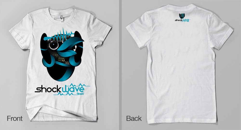 #118 for Logo Design for T-Shirt Company.  ShockWave Tees by xcerlow