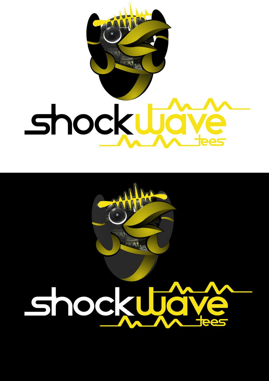 #117 for Logo Design for T-Shirt Company.  ShockWave Tees by xcerlow