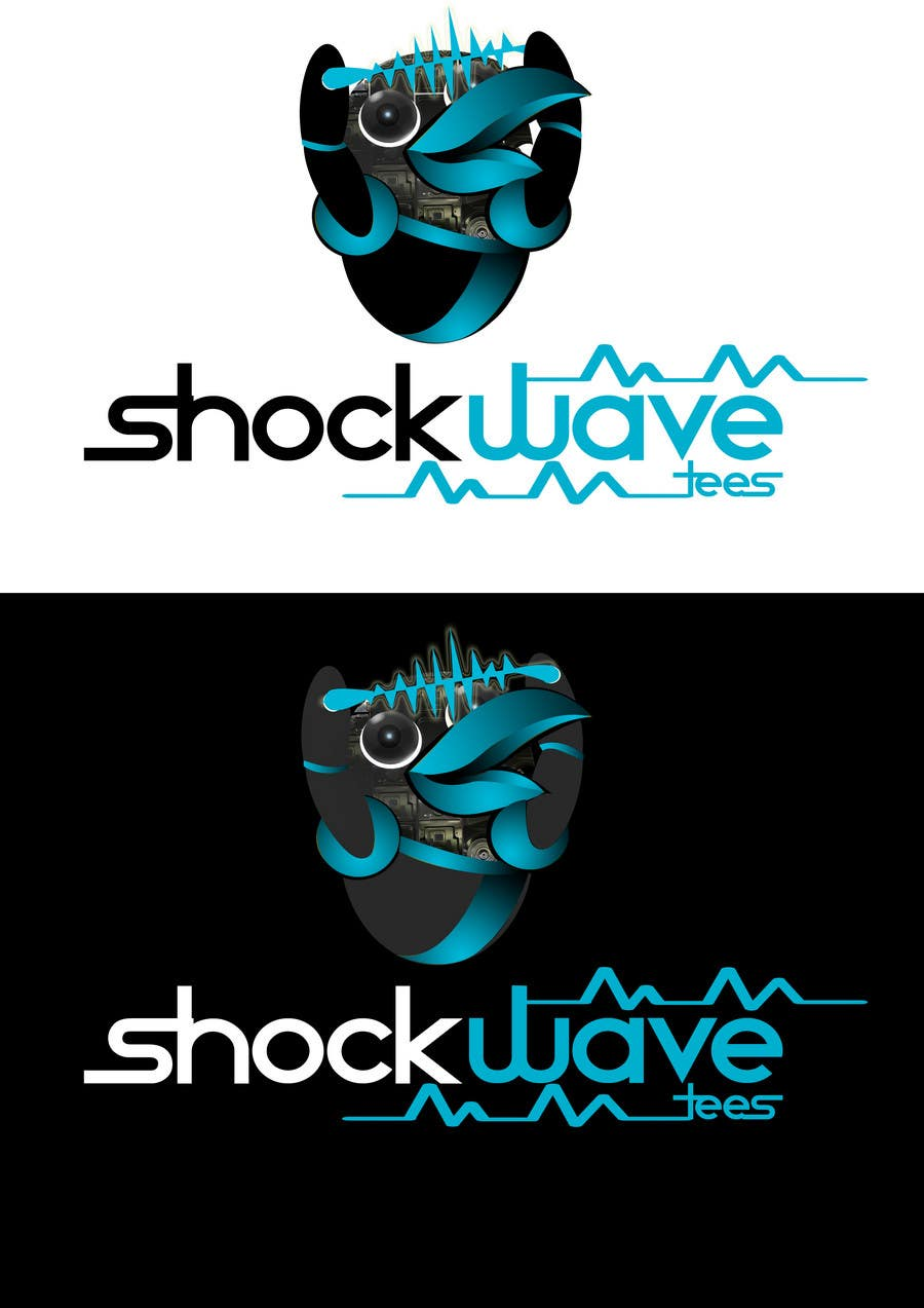 #116 for Logo Design for T-Shirt Company.  ShockWave Tees by xcerlow