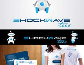 AcidicSubstance tarafından Logo Design for T-Shirt Company.  ShockWave Tees için no 121