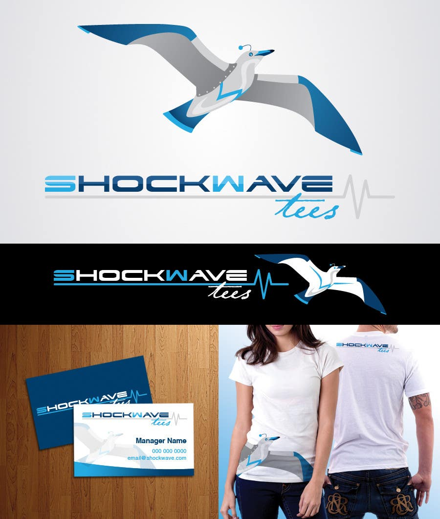 #120 for Logo Design for T-Shirt Company.  ShockWave Tees by AcidicSubstance