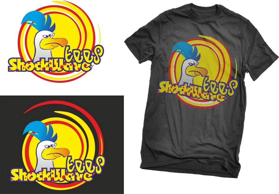 Inscrição nº                                         98                                      do Concurso para                                         Logo Design for T-Shirt Company.  ShockWave Tees