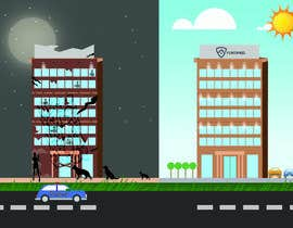 overtservices tarafından Illustrate a building with two different scenarios.... Unoccupied & Occupied için no 7