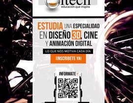 #27 for Diseña un flyer para el posgrado en diseño 3d, cine y animación digital by corradoenlaweb
