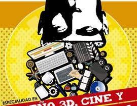 TeresaGM73 tarafından Diseña un flyer para el posgrado en diseño 3d, cine y animación digital için no 3