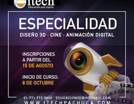 #55 for Diseña un flyer para el posgrado en diseño 3d, cine y animación digital by TeirysDulce