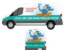 lucianoluci657 tarafından In need of a vintage van wrap design for a wifi service company için no 6