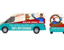 SRVIGNESHWARAN tarafından In need of a vintage van wrap design for a wifi service company için no 3