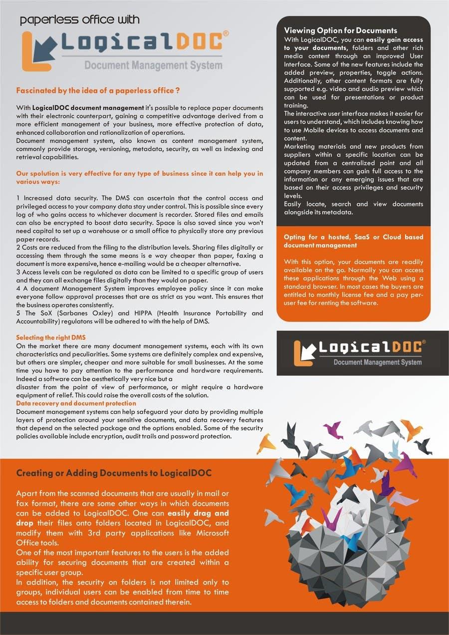 Konkurrenceindlæg #                                        2                                      for                                         A4 Brochure design for Marketing