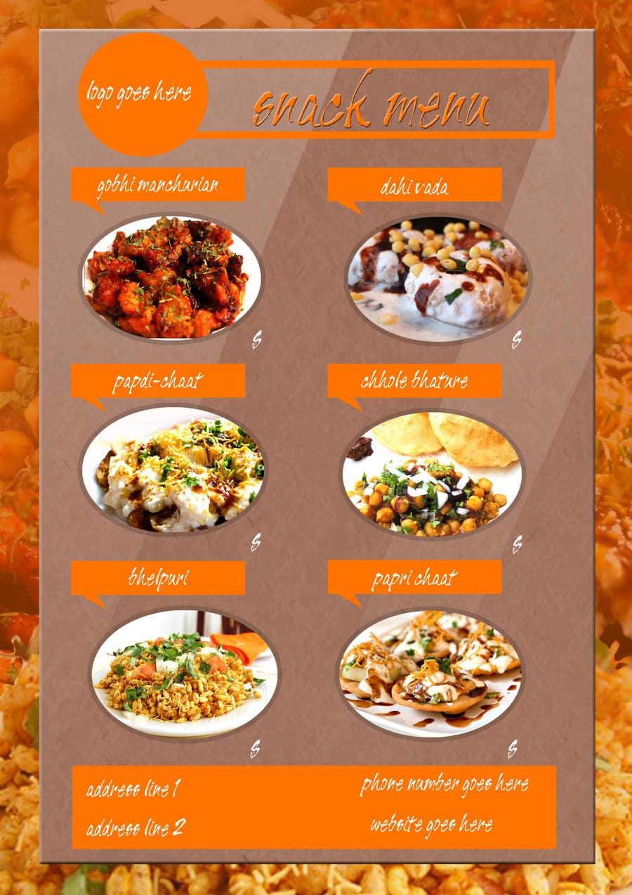 Bài tham dự cuộc thi #                                        5                                      cho                                         Design a Flyer for a new indian snack menu