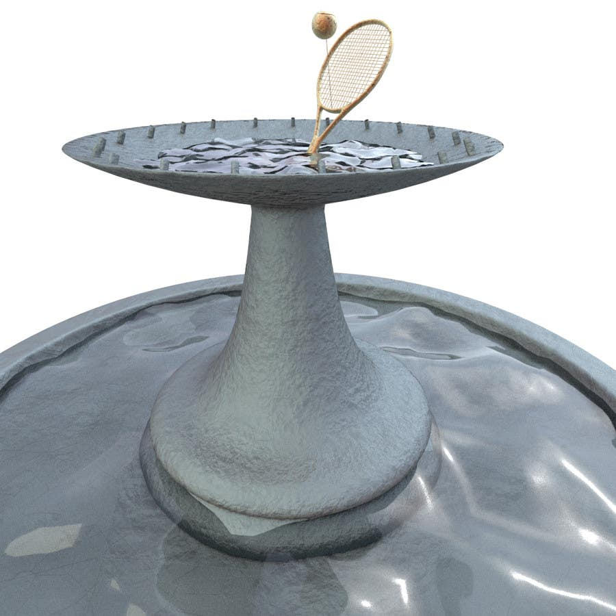 Entry #3 by mo0unty for 3D model a tennis fountain in Autodesk