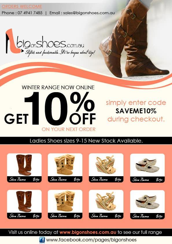 Inscrição nº                                         92                                      do Concurso para                                         Brochure Design for Big On Shoes- Online Shoe Retailer
