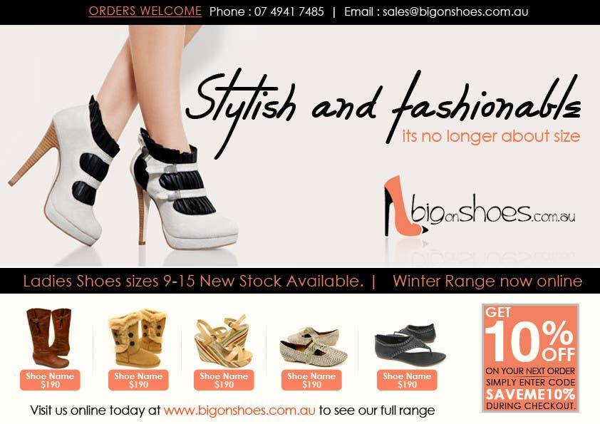 Inscrição nº                                         72                                      do Concurso para                                         Brochure Design for Big On Shoes- Online Shoe Retailer