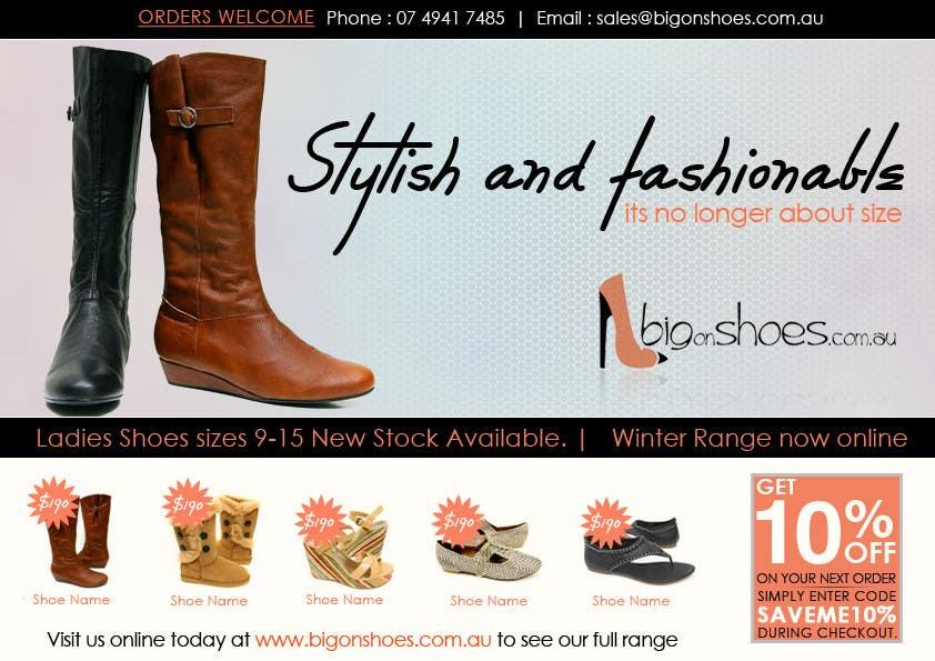 Inscrição nº                                         57                                      do Concurso para                                         Brochure Design for Big On Shoes- Online Shoe Retailer