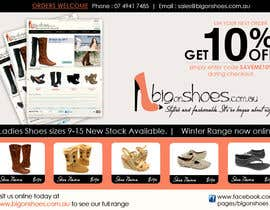 #108 untuk Brochure Design for Big On Shoes- Online Shoe Retailer oleh designerartist