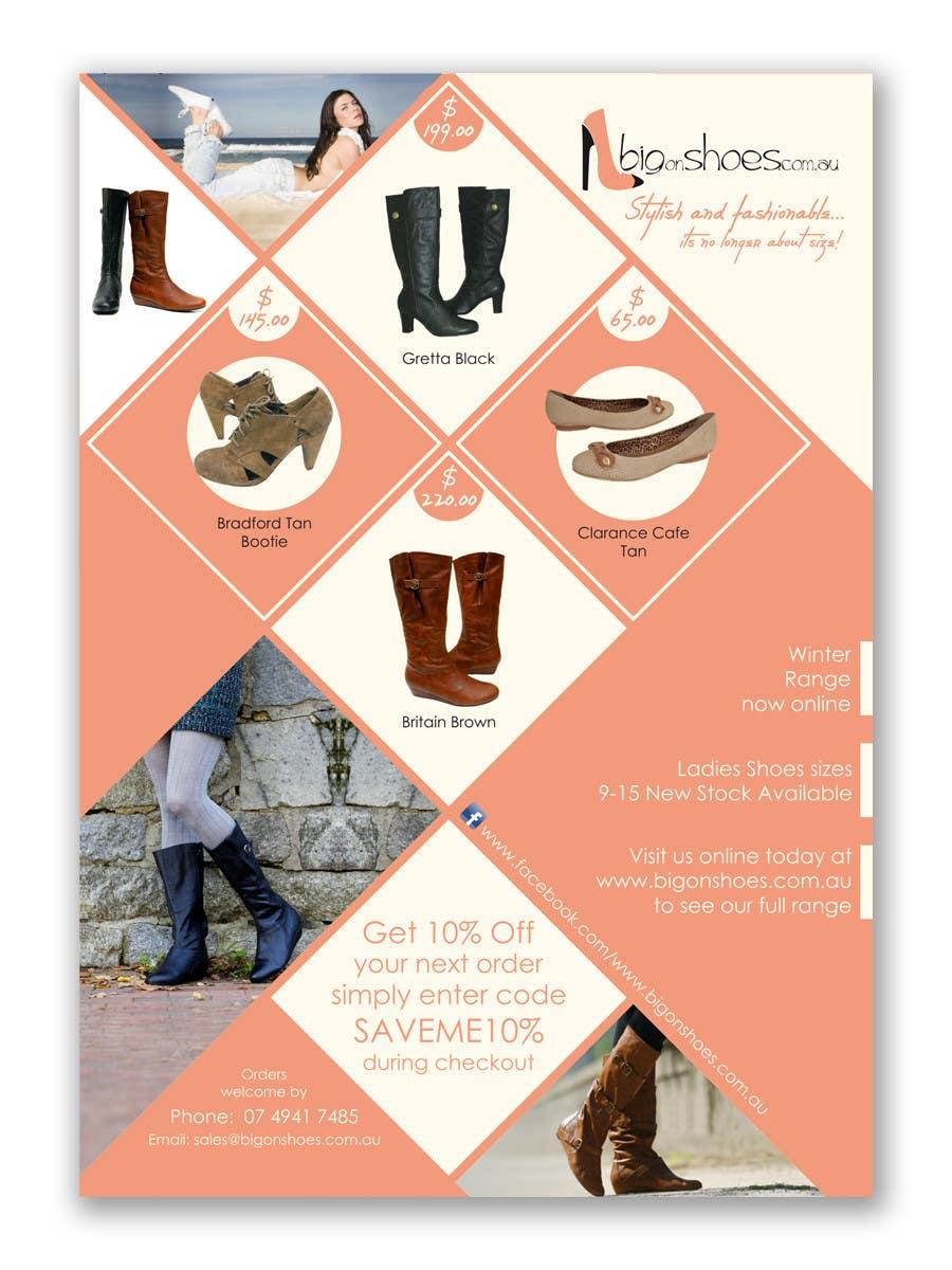 Contest Entry #                                        115                                      for                                         Brochure Design for Big On Shoes- Online Shoe Retailer