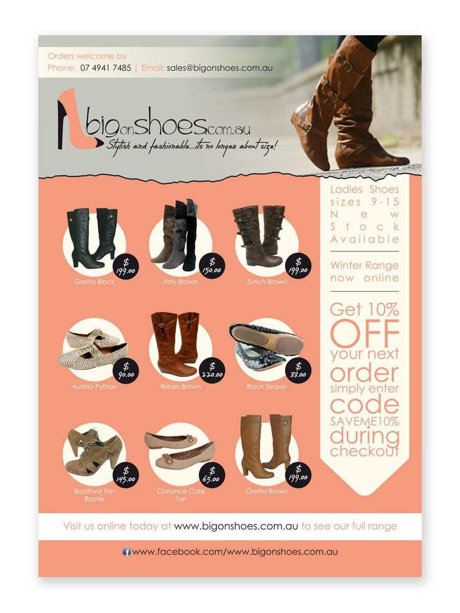 Конкурсная заявка №37 для Brochure Design for Big On Shoes- Online Shoe Retailer