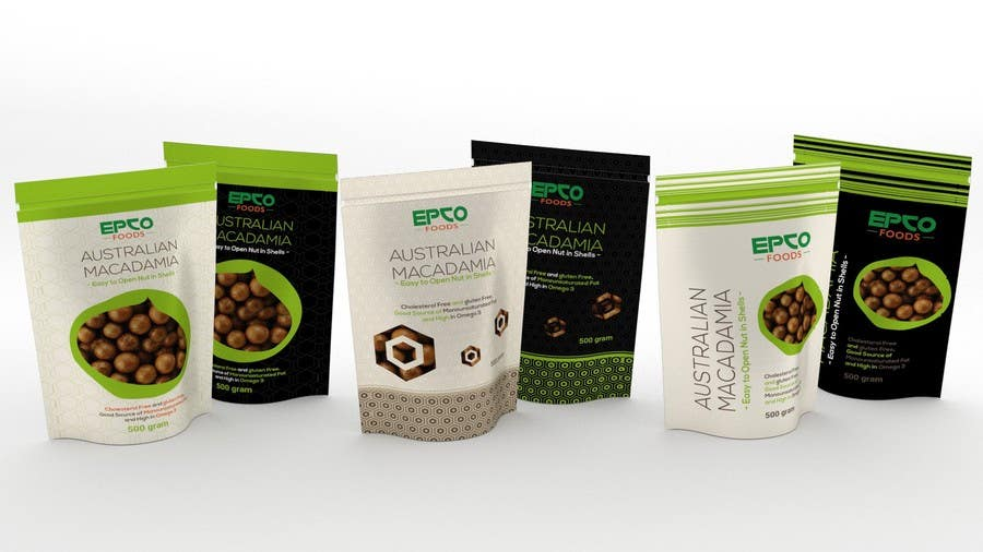 Stand Up Pouch Designs : Macadamia nut packaging design stand up pouch freelancer