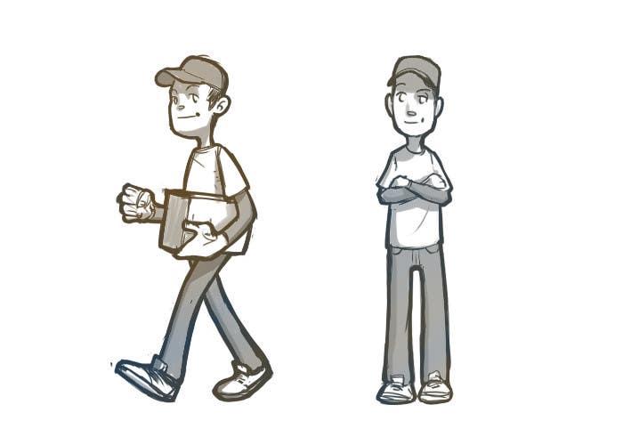 Inscrição nº 9 do Concurso para 2 vector cartoons of a young delivery boy