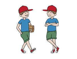 #12 para 2 vector cartoons of a young delivery boy por AmelieAu
