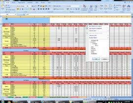 #8 untuk Excel Work oleh engrofood700
