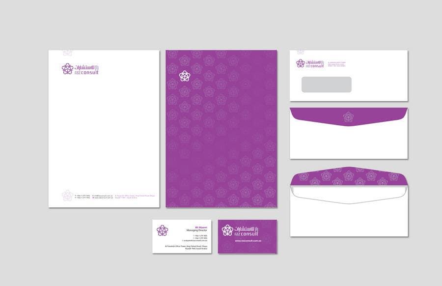 Proposition n°                                        34                                      du concours                                         Stationery Design for RAZ