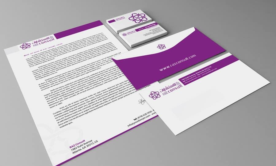 Proposition n°                                        36                                      du concours                                         Stationery Design for RAZ