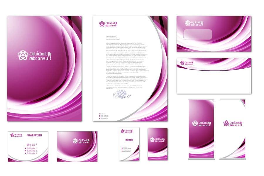 Proposition n°                                        114                                      du concours                                         Stationery Design for RAZ