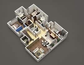 #25 para Apartment unit interior 3d design de khmamun50