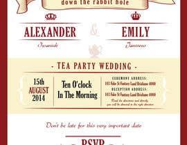 Nro 18 kilpailuun Tea Party Wedding Invitation Alice in Wonderland - Urgent käyttäjältä lukeoliver