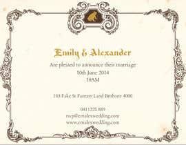 Nro 20 kilpailuun Tea Party Wedding Invitation Alice in Wonderland - Urgent käyttäjältä rudraraj