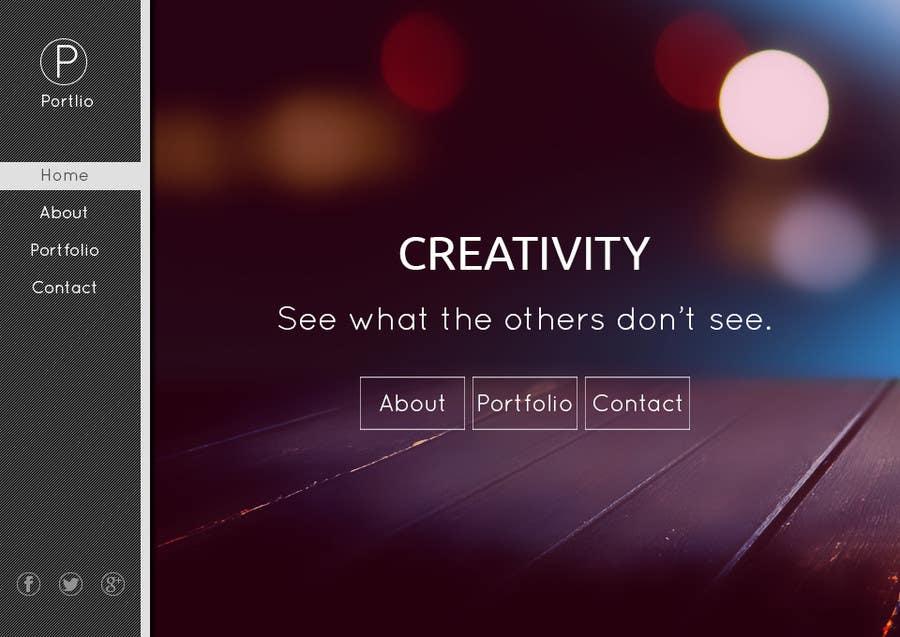 #8 for Design a Website Mockup for Portfolio by happycharle