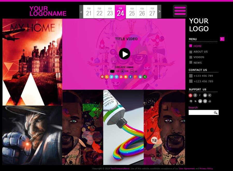 #48 for Design a Website Mockup for Portfolio by Ashleyperez