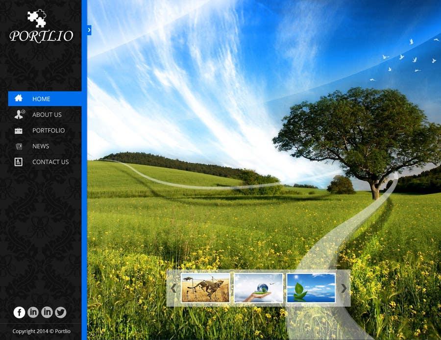 #29 for Design a Website Mockup for Portfolio by creativedesign06