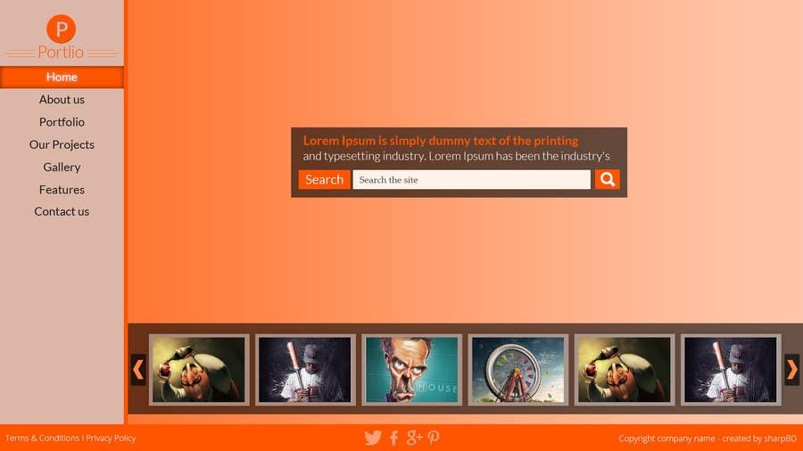 #14 for Design a Website Mockup for Portfolio by sharpBD