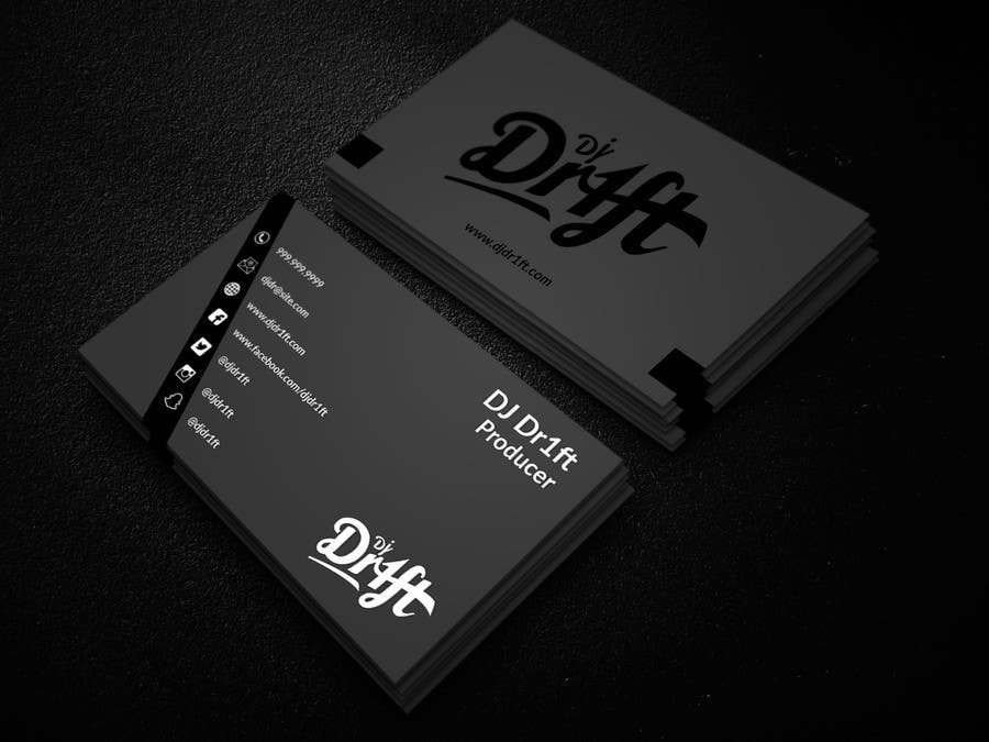 Entry 20 by nayeemasiddiqua for design sleek elegant business card contest entry 20 for design sleek elegant business card for dj reheart Choice Image