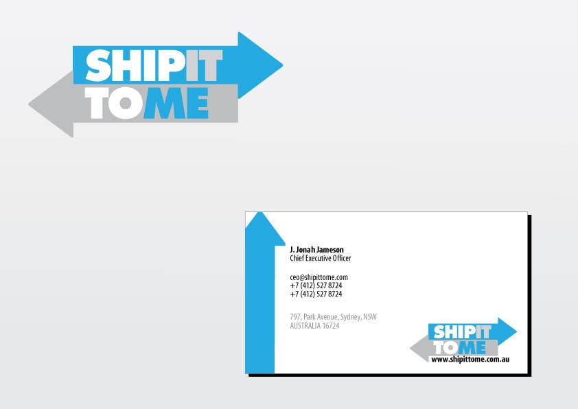 Proposition n°                                        6                                      du concours                                         Graphic Design for ShipItToMe - Logo, Business Card & HomePage Design
