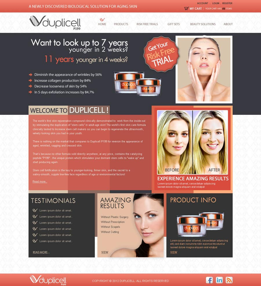 #15 for Website Design for Duplicell LLC by techwise
