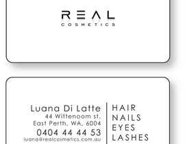 frazerlancer tarafından Business Card Design for Real Cosmetics için no 1