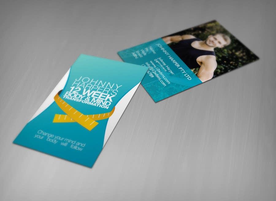 Inscrição nº 3 do Concurso para Business Card Design for Johnny Harper's 12 Week Body & Mind Transformation